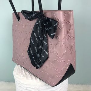 0ff63c7370b Betsey Johnson Bags - Betsey Johnson pink heart tote bag with scarf